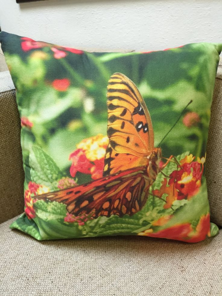 Butterfly Throw Pillow by SuzysSunshine on Etsy