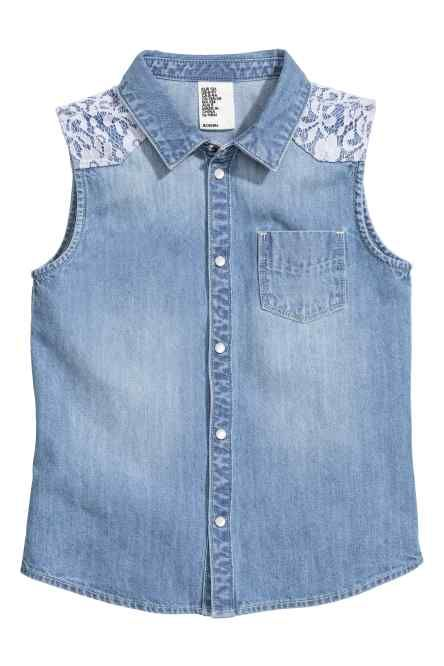 H&M - Sleeveless denim blouse £9.99