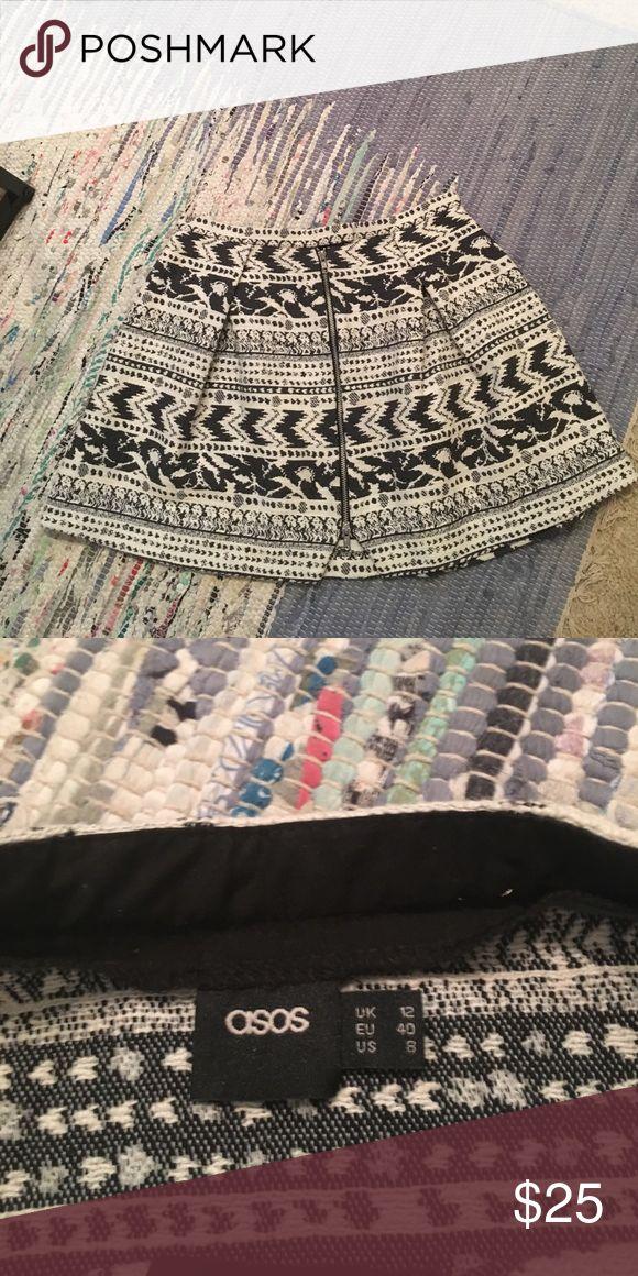 Brocade ASOS Skirt Circle Skirt from ASOS. Great detail. Worn one time. ASOS Skirts