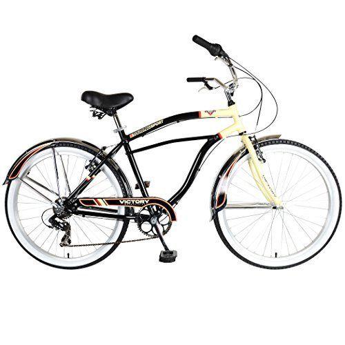 Victory Touring 726m Cruiser Bike 26 Inch Wheels 19 Inch Frame Men S Bike Black Cruiser Bicycle Man Bike Cruiser Bike