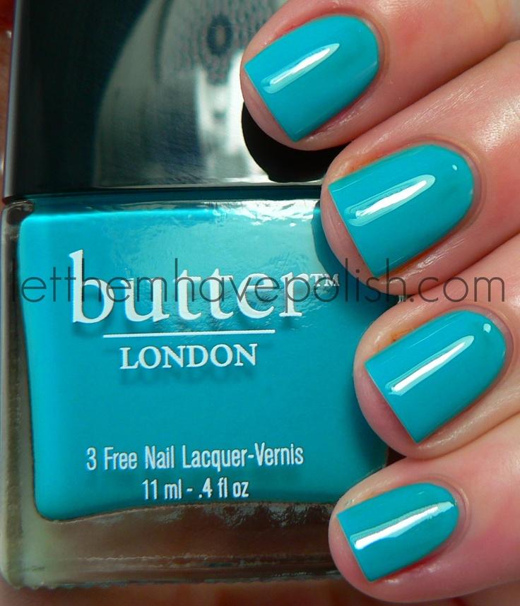 Loooooove this!: Nails Art, London Slapper, London Nails, Butter London, Trout Pout, Nails Polish, French Nails, Summer Colors, Blue Nails