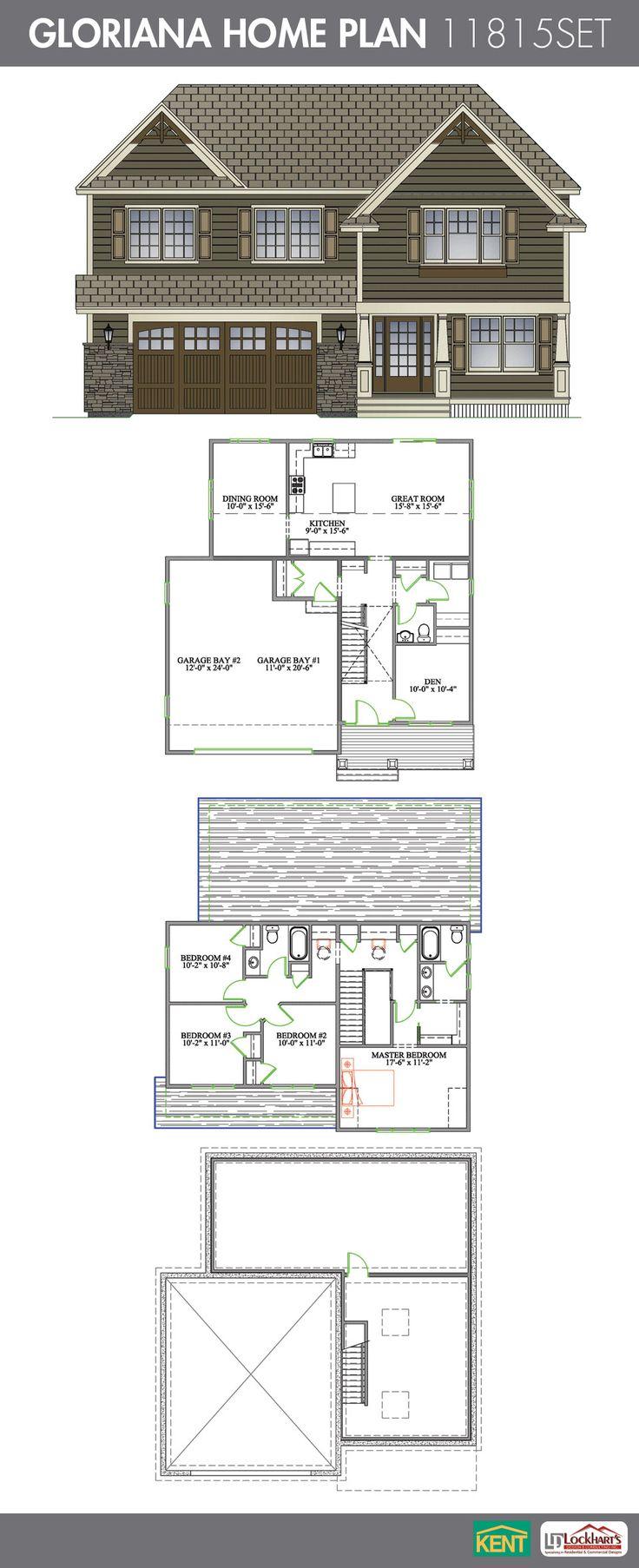 Gloriana 4 bedroom 2 12 bath home plan