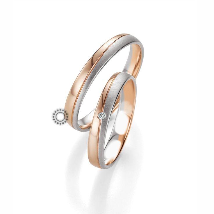 Βέρες γάμου BENZ 053 & 054 - Ιδιαίτερες ανατομικές βέρες Benz που διαχωρίζεται το χρώμα τους από μία διαγώνια γραμμή | Βέρες ΤΣΑΛΔΑΡΗΣ #βέρες #βερες #γάμου