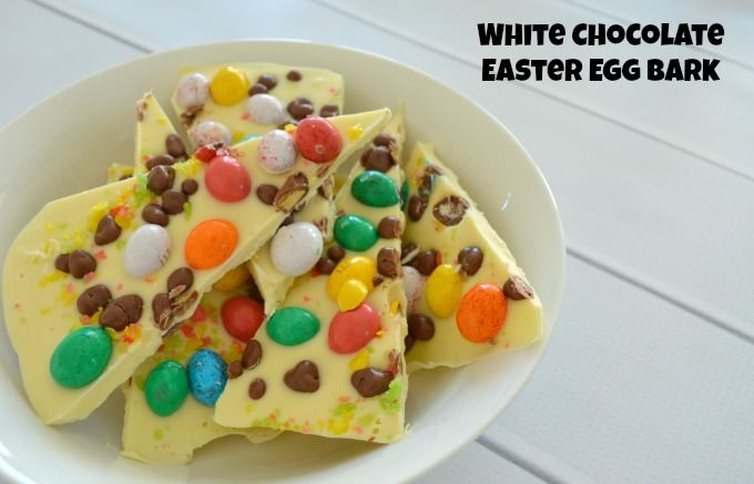 Easter recipes really don't get much easier than this White Chocolate Easter Egg Bark. All you need is a block of your favourite white chocolate, your favourite easter eggs and a couple of other yummy ingredients and you will be enjoying this delicious treat in no time. I decided to use M&M Speckled Eggs for