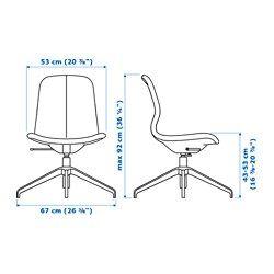 IKEA - LÅNGFJÄLL, Chaise pivotante, Gunnared beige, noir, , Un siège de bureau ergonomique aux lignes courbes, avec des surpiqûres soignées et un mécanisme simple d'utilisation dissimulé sous l'assise pour conserver toute l'esthétique.Vous pouvez vous adosser de manière optimale du fait que la tension d'inclinaison facilement réglable avec une clé Allen vous permet d'adapter la résistance à vos mouvements et à votre poids.Le soutien lombaire intég...