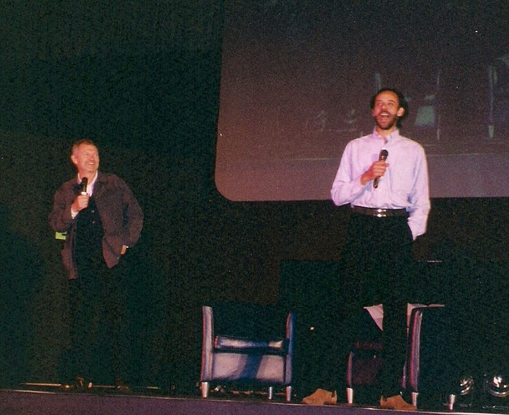 Andrew Robinson and Alexander Siddig, 2002. Sid is the the most beautiful man in the universe.