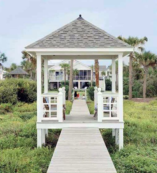 Southern living gazebo plan a walk through gazebo shown here a partially enclosed cabana - Outdoor leunstoel castorama ...