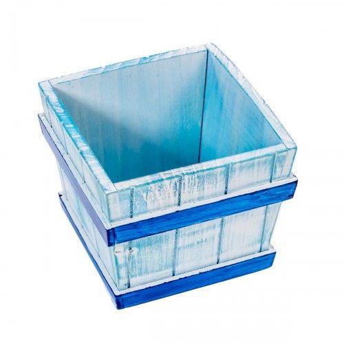Senua | box kotak kayu hiasan pot vas bunga pajangan sailor interior design
