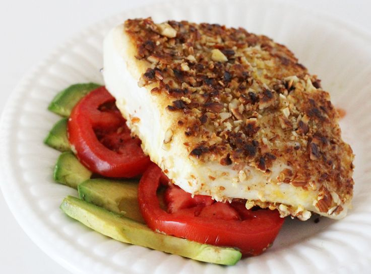 Clean eating Almond Crusted Halibut | My Cooking Spot - When Girl Meets Kitchen