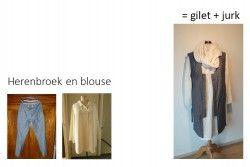 van broek en hemd naar een jurk