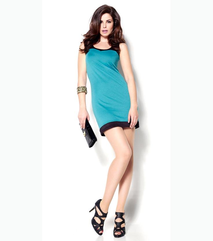 Vestido mujer bicolor de punto - Marta Torné - Venca