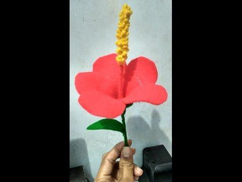 Pin Di Vidio Buat Bunga Flanel