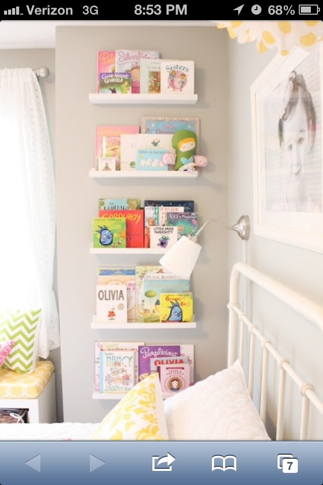 No floor space for bookshelf? Kids can see all the books too!