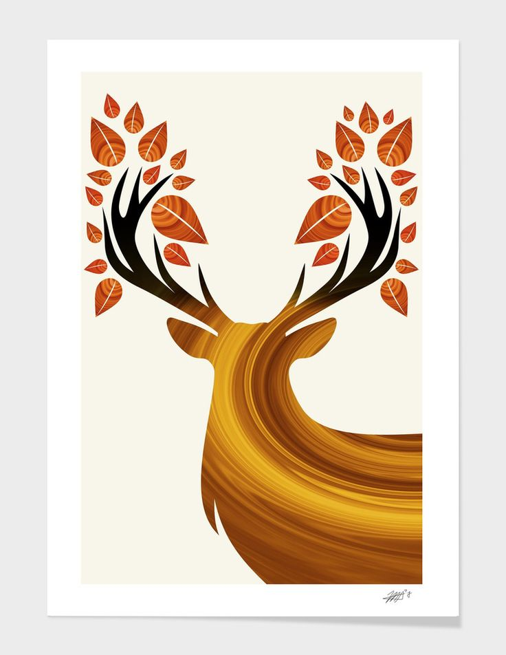 Deer - The artwork is available on: https://www.curioos.com/product/print/deer-23