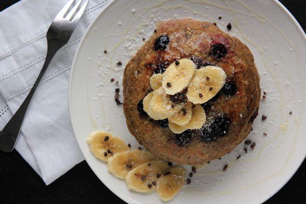 Quinoa blueberry pancakes #healthyfood #quinoa #blueberry #pancake