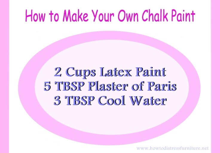 how to make chalk paint recipe... Chalk paint is expensive and is only made by one company..... This is for easy distressing...