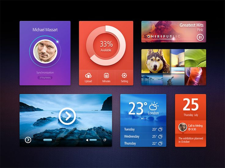 60 Beautiful Free UI Kits with PSD