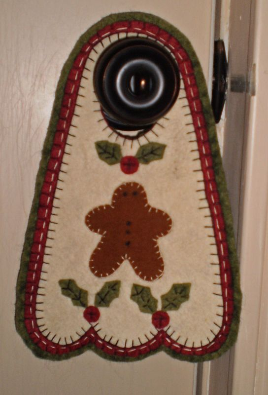 Image detail for -INSTANT DOWNLOAD E PATTERN Penny Rug GINGER BOY Door Knob Hanger