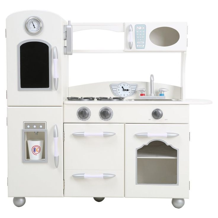 Teamson Kids Wooden Play Kitchen Set White - TD-11414W