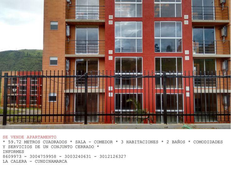 Venta de apartamento. Conjunto residencial el portico, en La Calera, Cundinamarca.