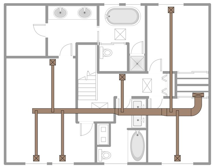 Hvac 2d Drafting Outsourcing Services House Ventilation Hvac Design Air Conditioning Design
