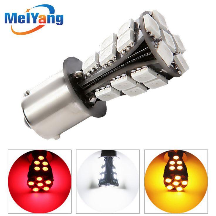 1156 BAU15S 21 SMD lâmpadas led car canbus Nenhum Erro py21w Lâmpada Fonte de Luz Do Carro Luzes Externas 12 V Branco Vermelho amarelo
