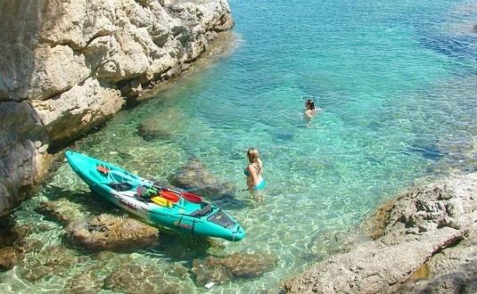 sea kayaking - Croatia