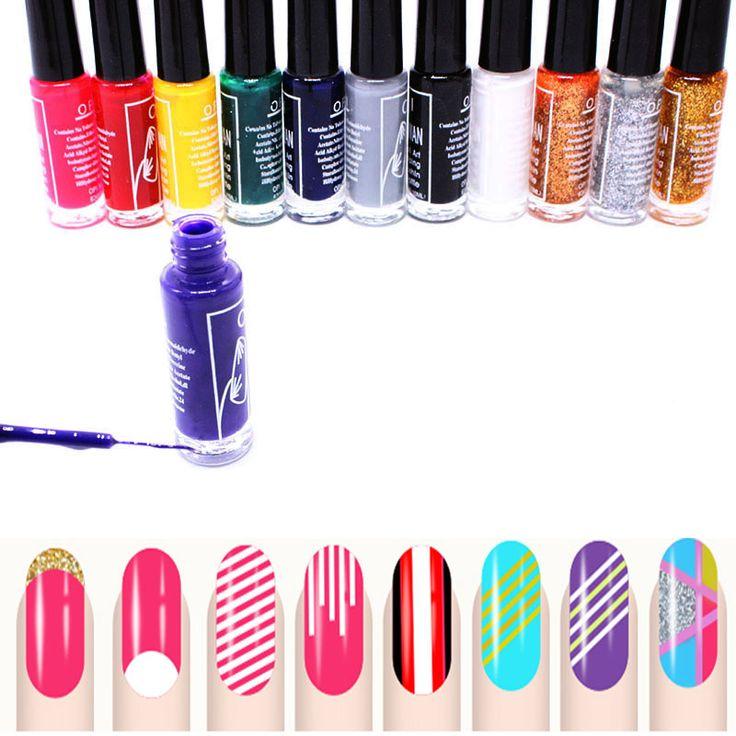 1pcs Nail Art Striping Brush In Bottle Drawing 3D Paint Nails Polish ...