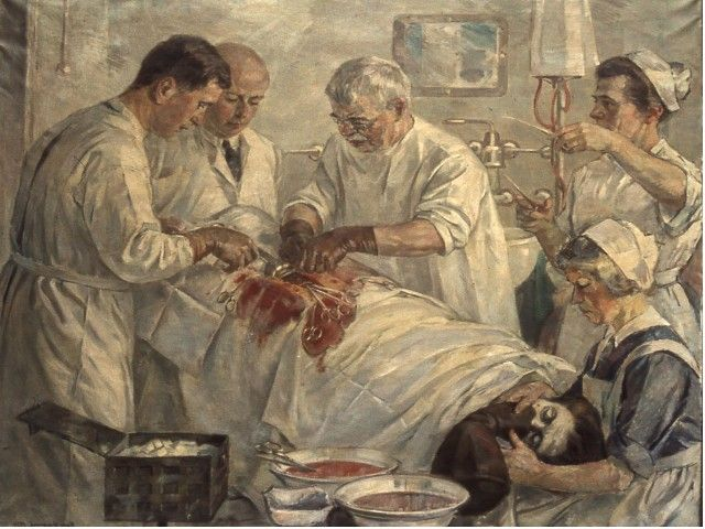 """Enfermera anestesista Thora Erichsen (""""Nurse Anesthetist Thora Erichsen""""). Hans Odegaard. 1924. https://painthealth.wordpress.com/2016/03/30/enfermera-anestesista-thora-erichsen/"""