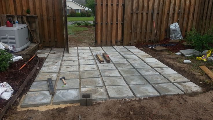Concrete Pavers Were Cheap And Have Texture On Top Later
