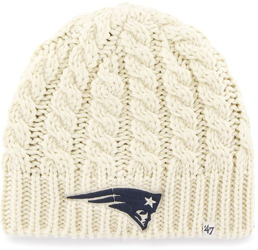 New England Patriots Logo Newbury Beanie Natural 47 Brand Womens Hat - Great Prices And Fast Shipping at Detroit Game Gear