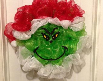 Image result for how to make a grinch wreath