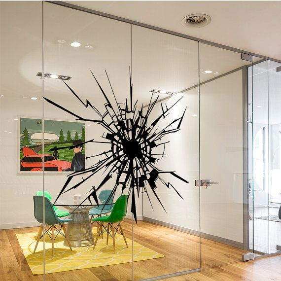Best Glass Decals For Corporate Breakroom Doors Images On - Vinyl stickers for glass doors