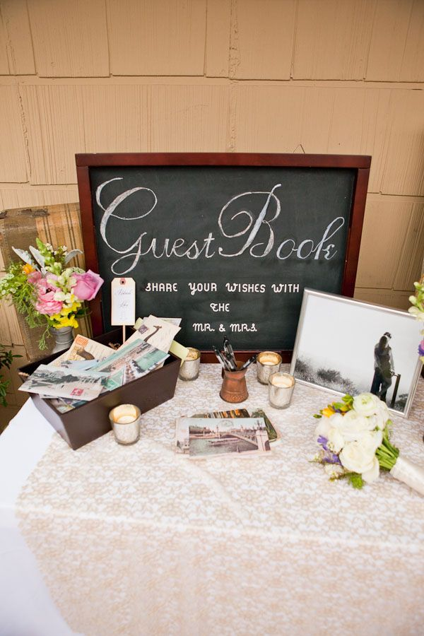 guest book table. Photo by Love Light Images.