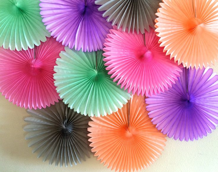 TISSUE PAPER FAN / wedding decorations / birthday party decor / nursery decorations / backdrop decorations / photo prop / decorative fans by PomLove on Etsy https://www.etsy.com/listing/206989520/tissue-paper-fan-wedding-decorations