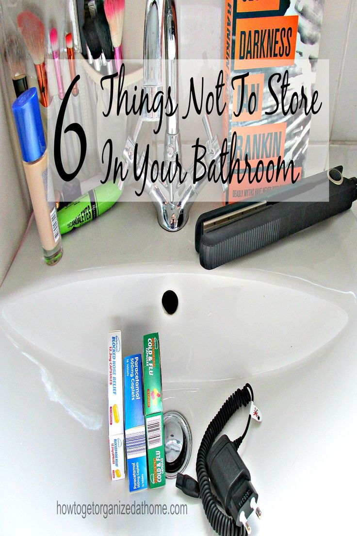 There are products that you should not be storing in the bathroom!: