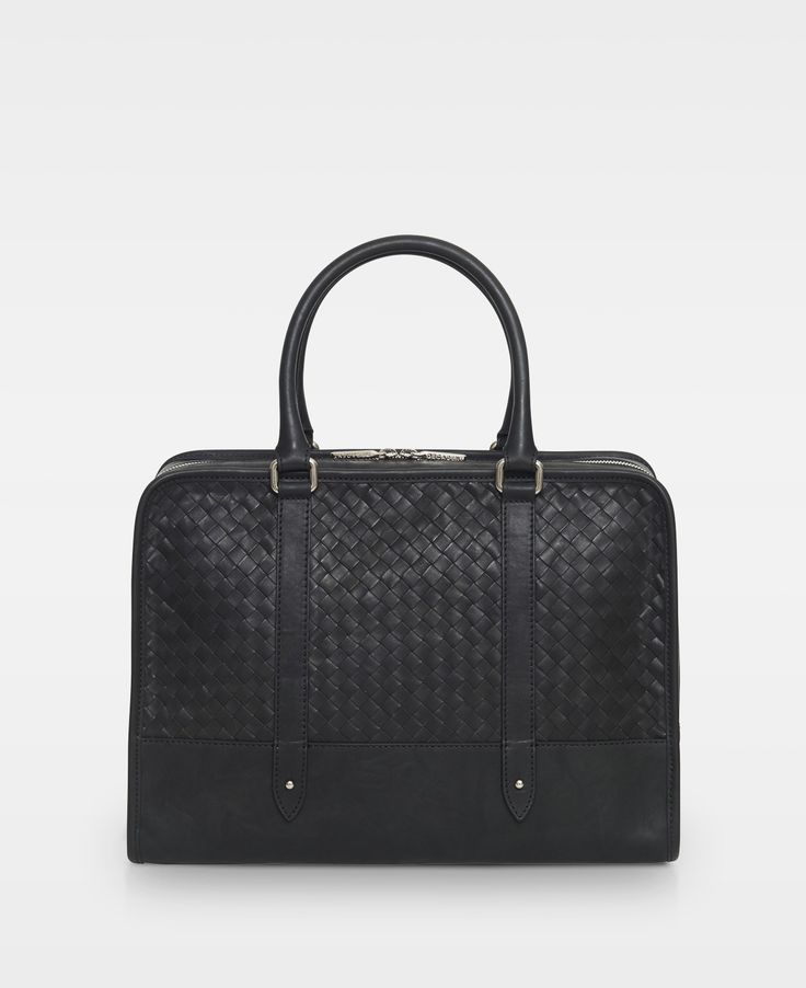 DECADENT Elenor Woven computer bag, Black