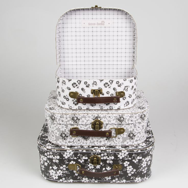Parisian Floral Suitcases-Set of 3 Buy online here http://www.smallthings.gr/shop/bath-room/parisian-floral-suitcase-set-of-3/#.VMkOBy53AxI