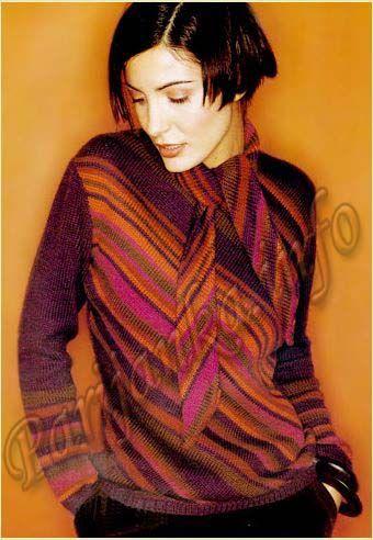 Пуловер (ж) 183 Creations 2001/2002 Bergere de France №3800