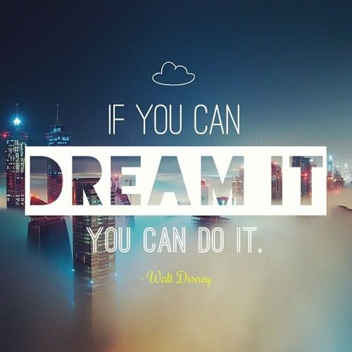 I dream that I can... and so I will. (Sarah you should know what I'm talking about...)