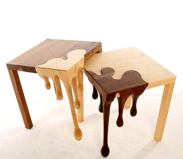 + Design de produto :     Muito criativo, as mesas projetadas pelo designer Matthew Robinson.