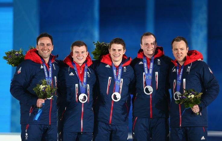 CURLING MEN:  Silver medalists Team Great Britain
