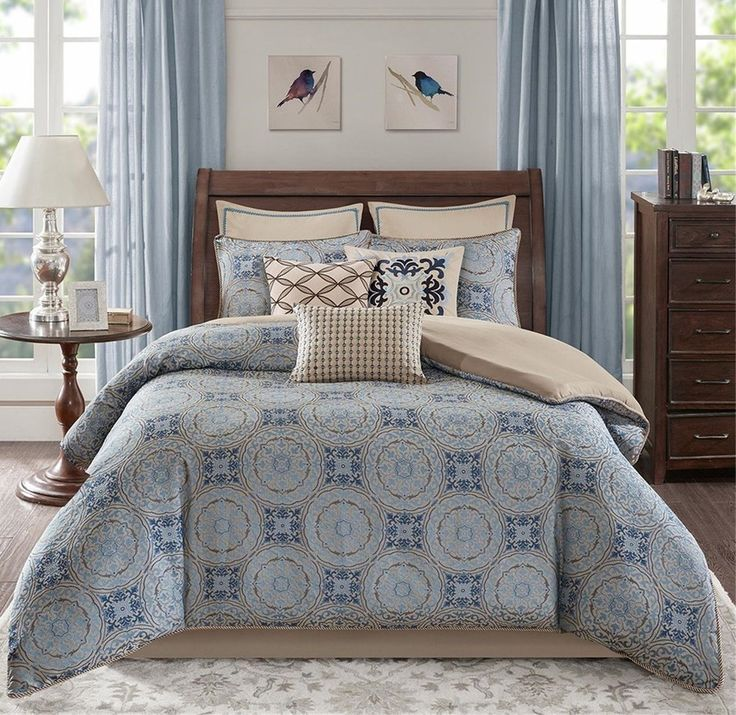 93 best images about master bedroom ideas and bedding on 12253 | b3a70fb53d2fb9751568b665774fb433 blue comforter sets comforters
