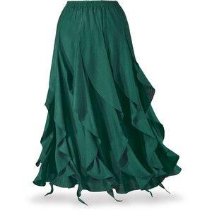 Green Cascade Skirt Size 1X
