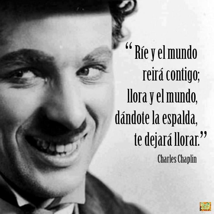 Frase de Charle Chaplin   imagenesyvideos.net -  Frases de Domingo Faustino Sarmiento sobre educación