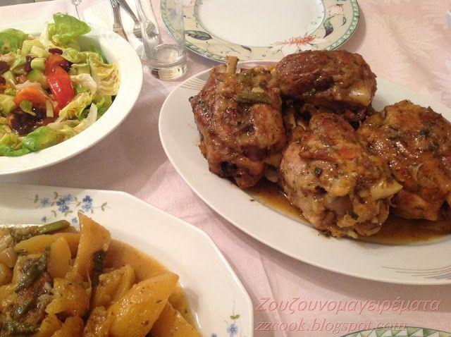 Ζουζουνομαγειρέματα: Κότσια γιορτινά με πατάτες!