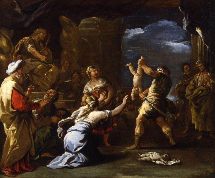 The Judgement of Solomon ; Artist: Luca Giordano ; Year: Mid-Late 1600s