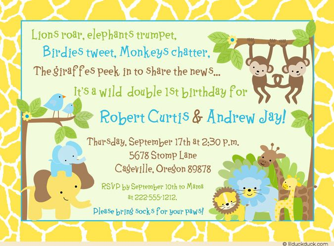 48 best Cute Twin Birthday Invitations images – Twin Birthday Invites