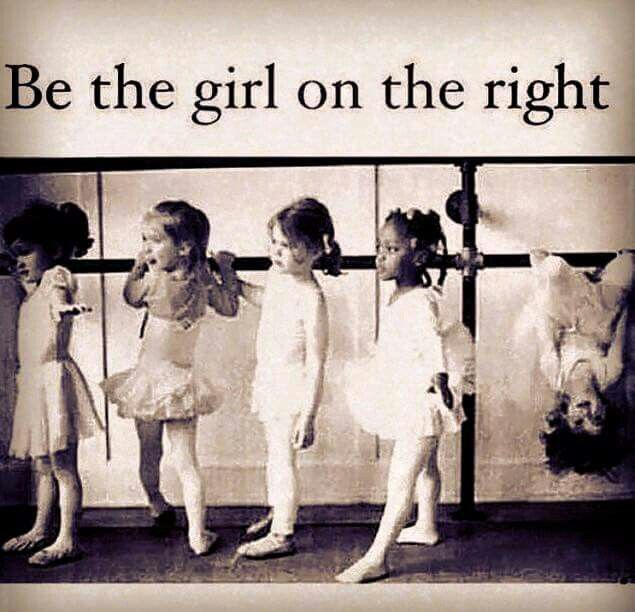Be the girl on the right ... hmmm I already am ;-)