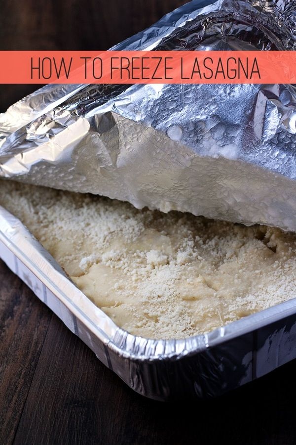 How to Freeze Lasagna
